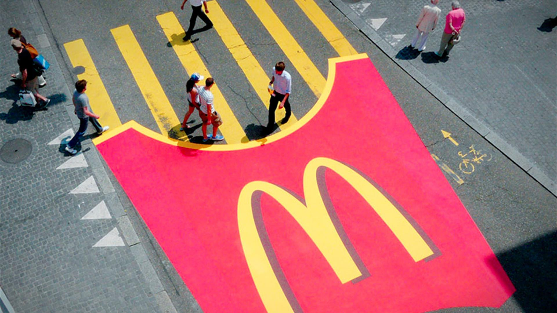 Strisce Gialle Mc Donalds