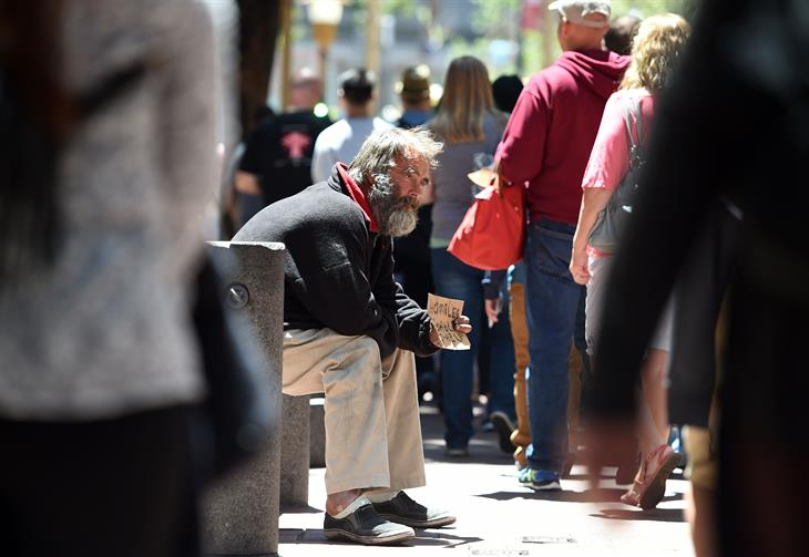 Homeless JOSH EDELSON:AFP:Getty Images