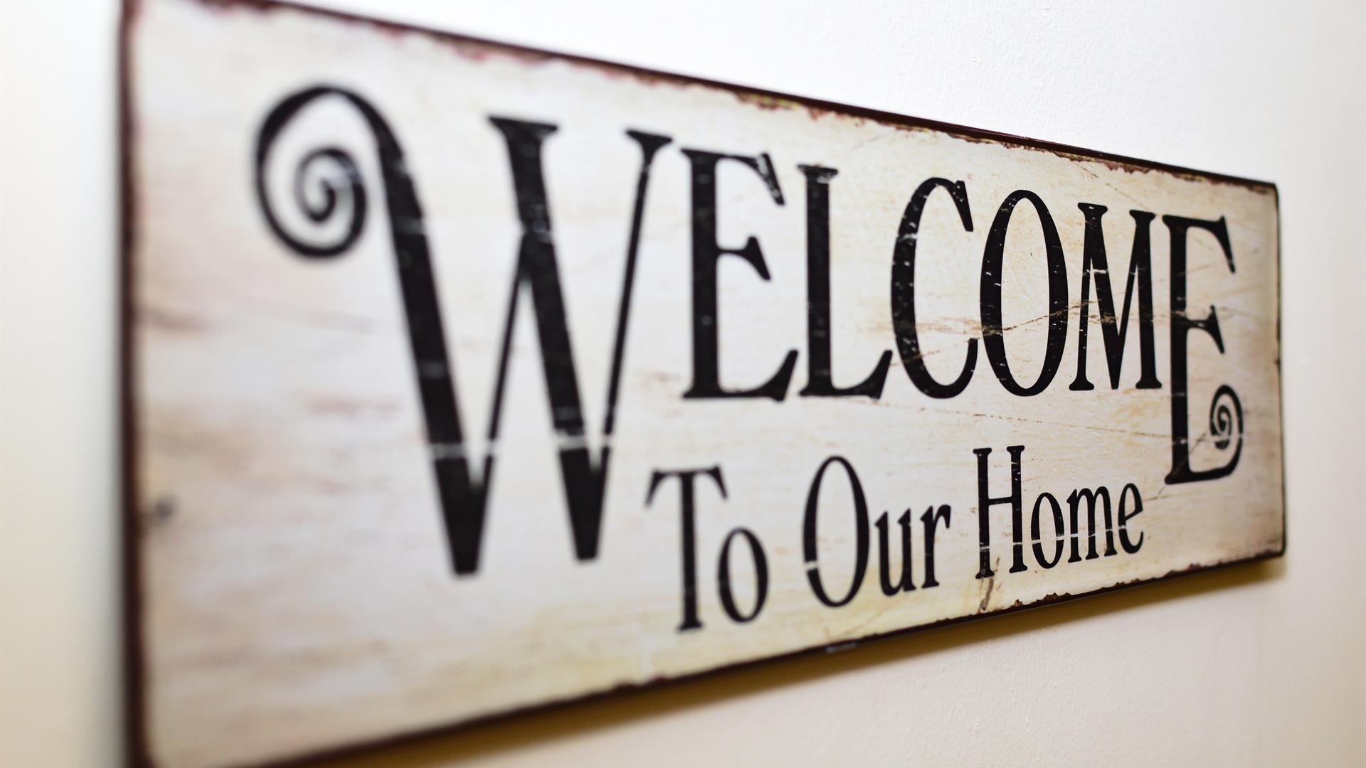 Welcome To Our Home Welcome Tablet An Array Of 163046