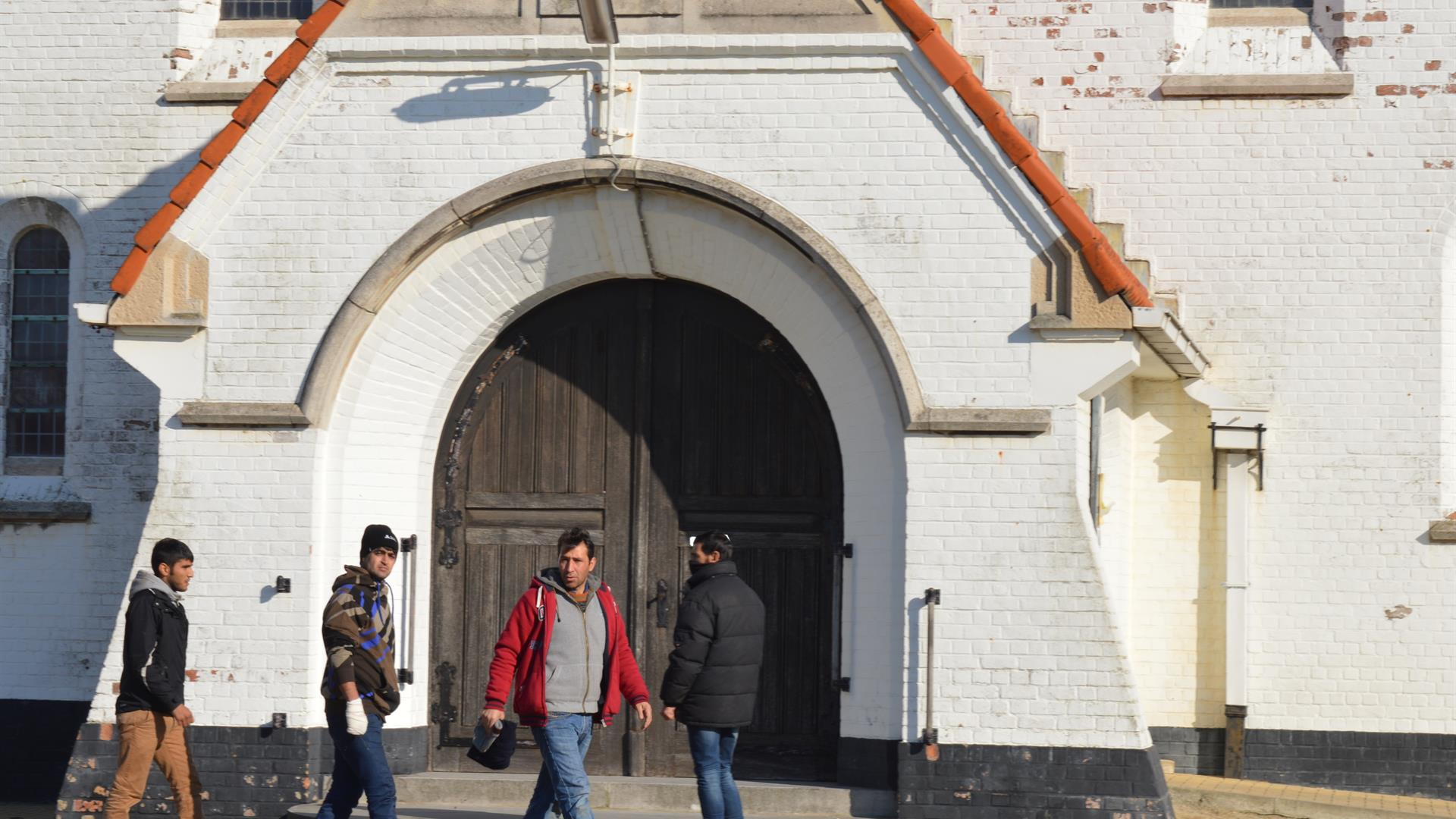 Refugees Entering Local Church