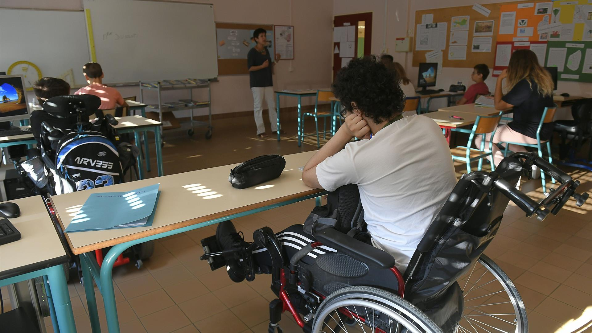 Scuola Disabilità PHILIPPE DESMAZES:AFP:Getty Images
