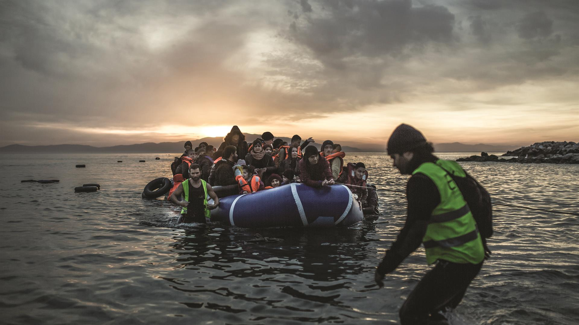 A Boat With Migrants; Lesvos Credit Pablo Tosco Oxfam Intermon