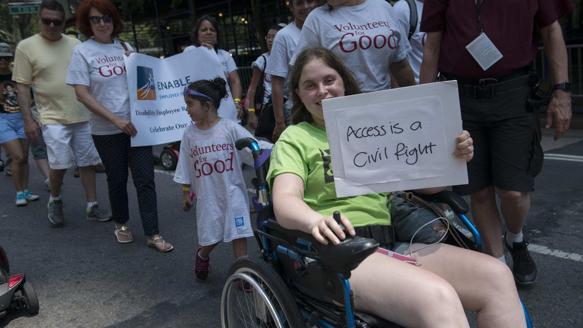 Stephanie Keith:Getty Images Disability Pride NY