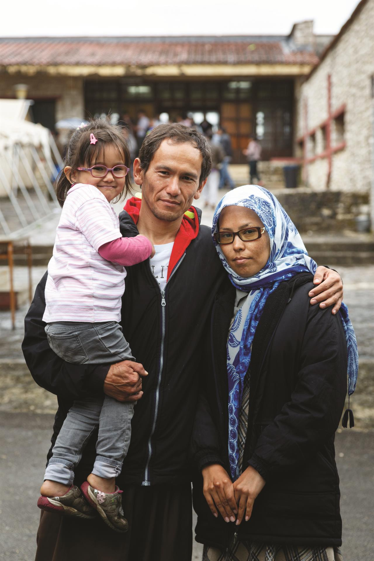 Nader 33 And Aziza 31 With Their Son, Afghans, Doliana Camp, Epirus Credit Aubrey Wade Oxfam