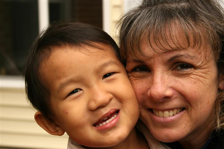 Mother And Adopted Asian Child