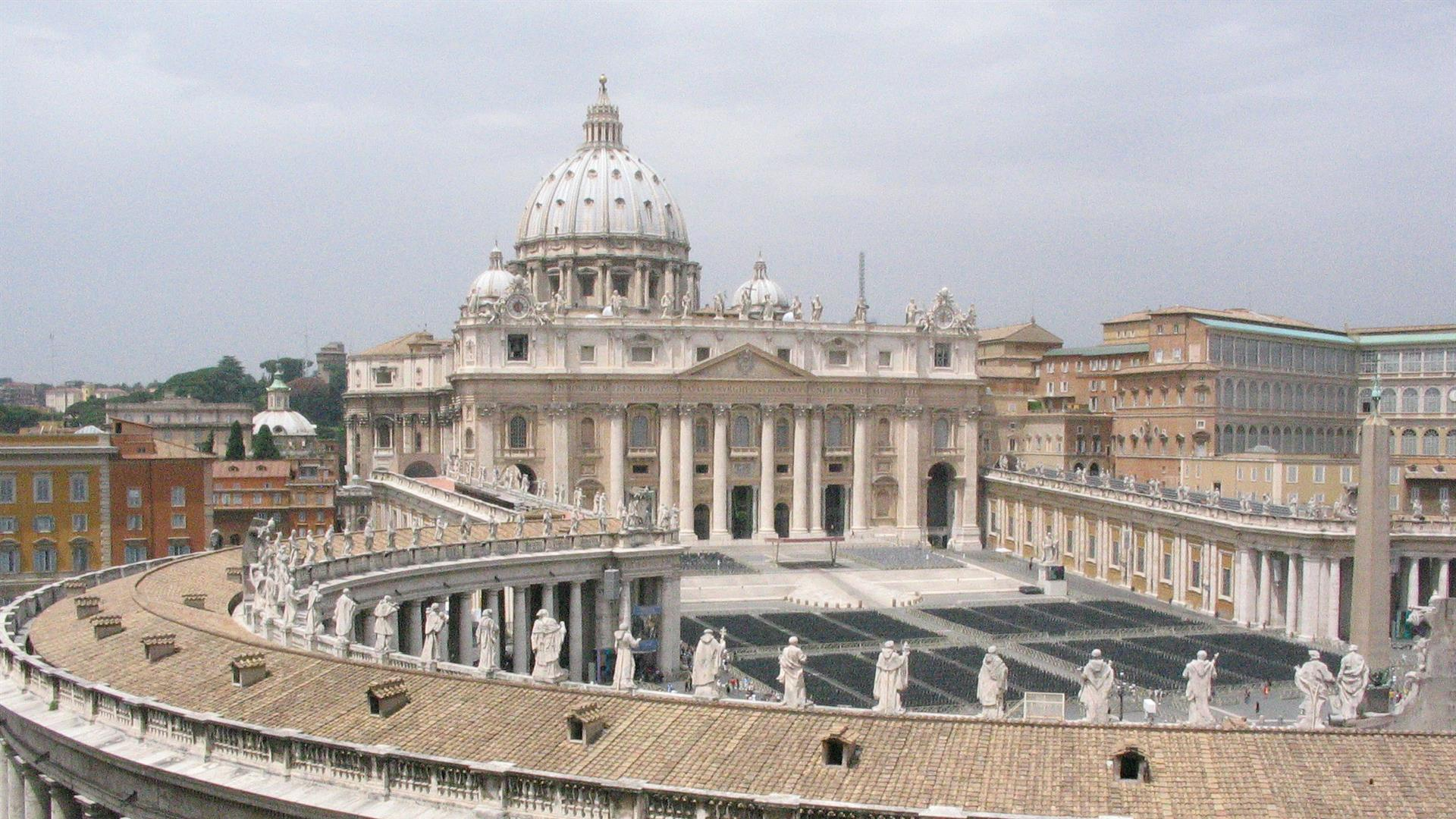 View Of Saint Peter Basilica From A Roof