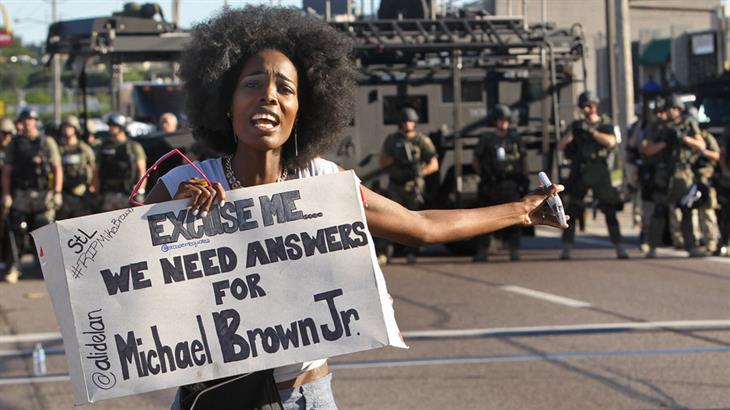 Michael Brown Protest Police