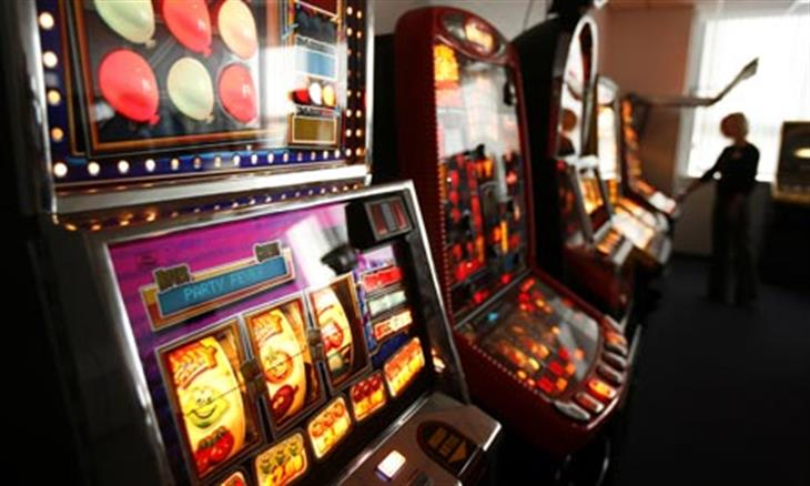 A Row Of Slot Machines An 001