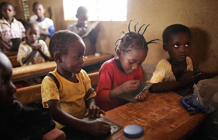 Bambini Burkina Faso Leon Neal:AFP:Getty Images