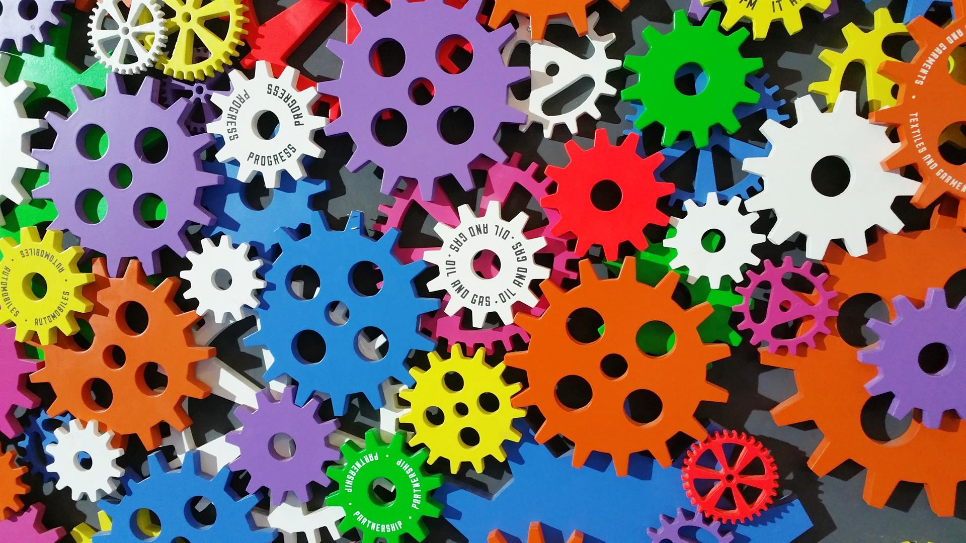 Art Cogs Colorful 171198