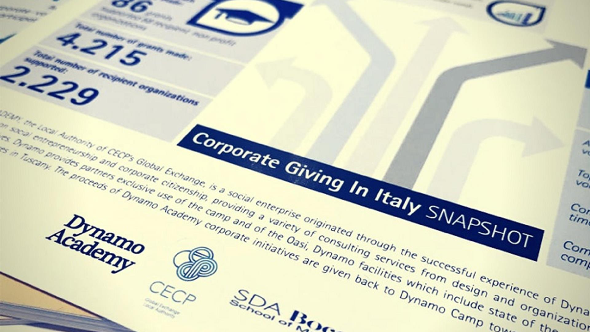 Corporate Giving In Italy 2018